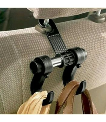 Car Hanger Bags Organizer Car Double Hook Headrest Luggage Holder