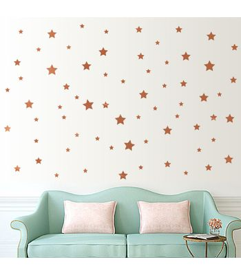 Jaamso Royals  Gold Glossy Star Wall Sticker PVC Vinyl 45 cm X 50 cmDecorative  Stickers
