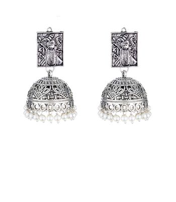WATCH ME Banjara Boho pom Pom Trendy Fashionable Partywear Earrings Jhumki for Women Girls WMRPG-052