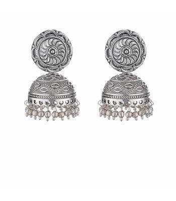 WATCH ME Banjara Boho pom Pom Trendy Fashionable Partywear Earrings Jhumki for Women Girls WMRPG-036