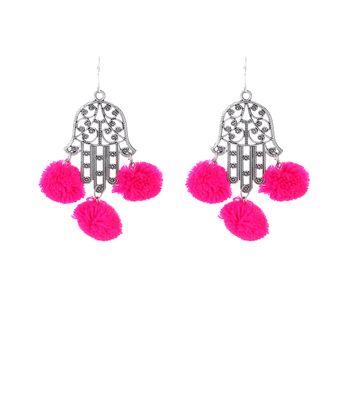 WATCH ME Banjara Boho pom Pom Trendy Fashionable Partywear Earrings Jhumki for Women Girls WMRPG-019