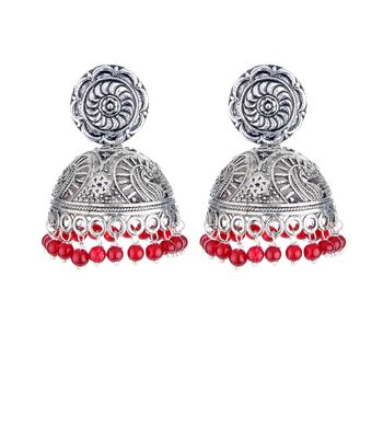 WATCH ME Banjara Boho pom Pom Trendy Fashionable Partywear Earrings Jhumki for Women Girls WMRPG-005