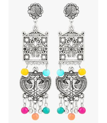 WATCH ME Banjara Boho pom Pom Trendy Fashionable Partywear Earrings Jhumki for Women Girls WMRPG-088