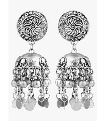 WATCH ME Banjara Boho pom Pom Trendy Fashionable Partywear Earrings Jhumki for Women Girls WMRPG-077