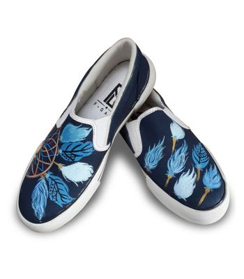 Dream Catcher slipon canvas shoes casual shoe loafer shoes printed handpainted shoes