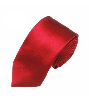 Mivera Red Micro Fiber Skinny TieExcluNt2504
