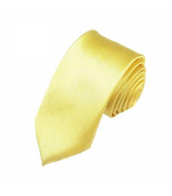 Mivera Yellow Micro Fiber Skinny TieExcluNt2506