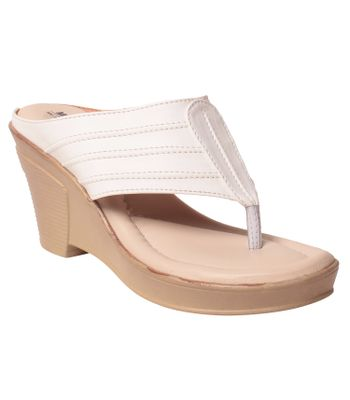 Msc Women Synthetic White Wedges