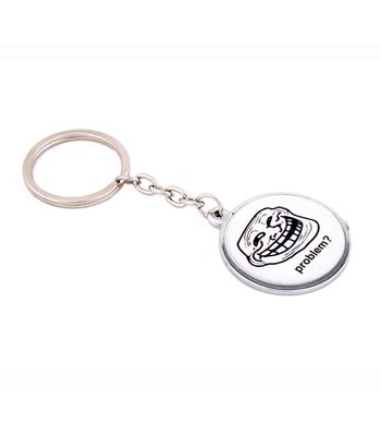 Daffodils Troll Key Chain White Black