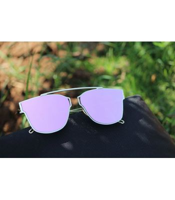 silver pink aviator sunglasses for men