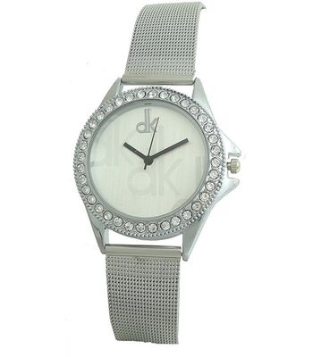 Silver Belt Women Diamond Watch