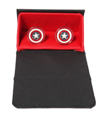 The Crazy Me Captain America Cufflinks