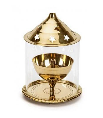 Decorate India Large Brass Akhand diya 5.3 inch