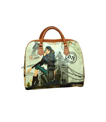 Edeal Online Printed Peris Handbag