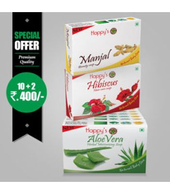Happys  Aloe vera   Soap Pay for 10 Get 12 Combo Offer