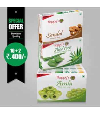 Happys Amla Soap Pay for 10 Get 12 Combo Offer