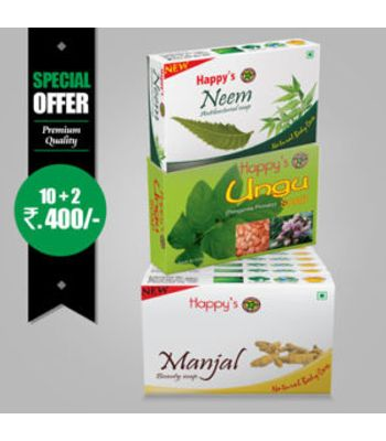 Happys Manjal Soap Pay for 10 Get 12 Combo Offer