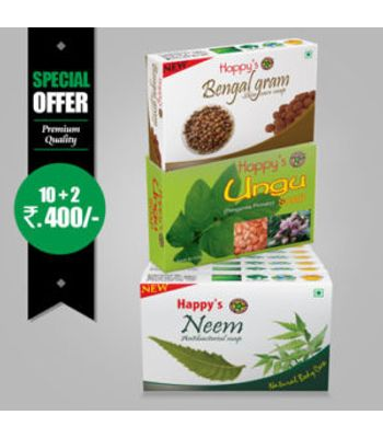 Happys Neem Soap Pay for 10 Get 12 Combo Offer