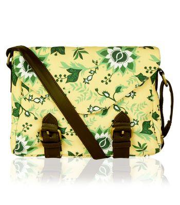 Kleio Designer Beautiful Printed Sling  Cross-body Bag for Girls ECO2005KL-YE