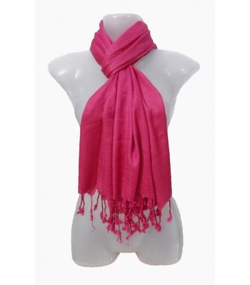 Muumuu Solid Hot Pink Viscose Womens Stole