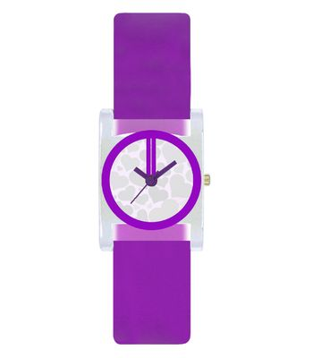The Shopoholic Designer Purple Square Heart Dial Awesome Analog Watches For Girls-Womens Watches