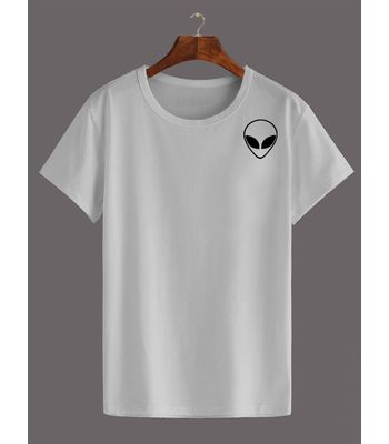 Womens Cotton T Shirt - Alien White