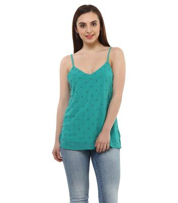 Women Green Embellished Top