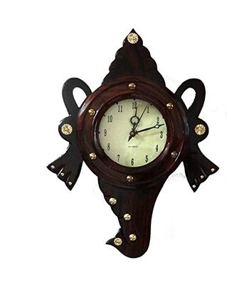 Kalaaplanet Antique Rosewood Wall Clock - Shangu
