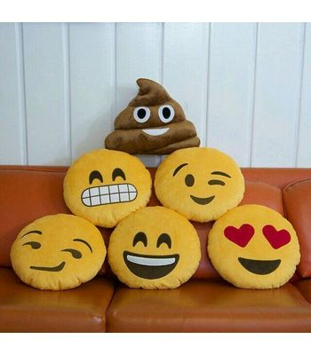 Set Of 5 Emoji Pillows