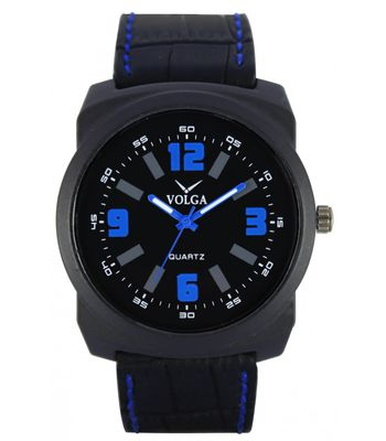 Watch Black Model With Black Belt With Box