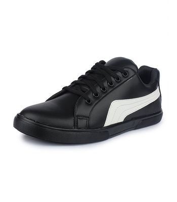 Mens Black Casual Sneakers Shoes