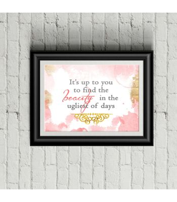 Beauty Quote Poster Print