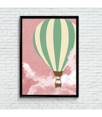 Vintage Poster Print - Hot Air Balloon