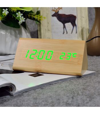 LED Wooden Clock ASSORTED