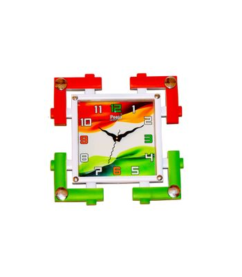 Tiranga Design Clock