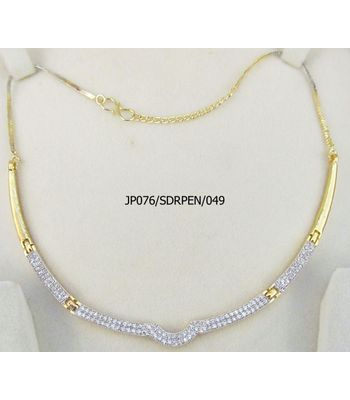 A2 Fashions Elegant Casual Party Wear Designer Slider Necklace In American Diamonds