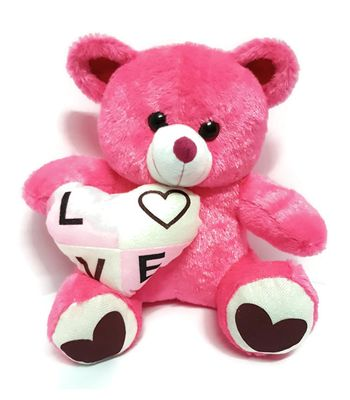 Pink Teddy Bear by CGB Very Soft with Love  Heart 30 CM