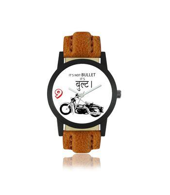 Klassy Collection BULLET LOVER Designer Brown Analog Watch - For Men