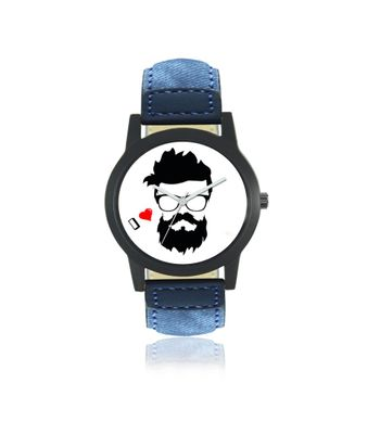 Klassy Collection Funky Look Blue Strap Analog Watch - For Men