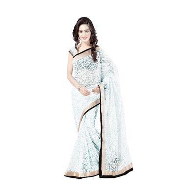 Aruna Sarees Embellished Bollywood Brasso Sari