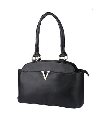 Goldmine Designer Hand Bag For Girls and Womens Black Party Ware