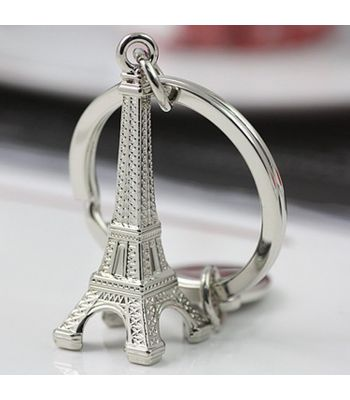 Eiffel Tower Metal Keychain Top Best Selling Quality Keyring for Bike Car
