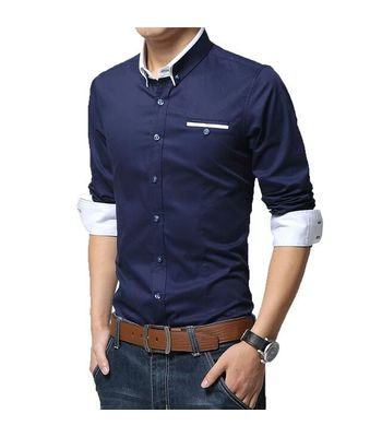 Blue casual shirt for mens