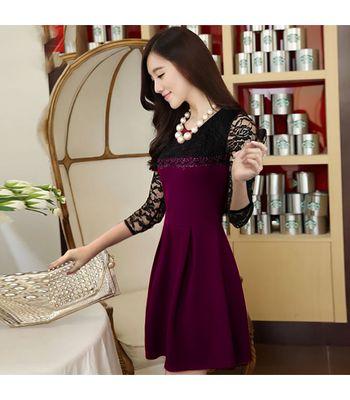 Exclusive Designer Wine Dress 102