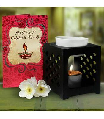 Oil Burner  Diwali Card Hamper