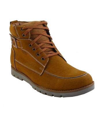 100 Walker Lace Up Synthetic Leather Casual Shoes Boots