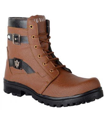 Ryko Mens Brown Trendy Combat Boot