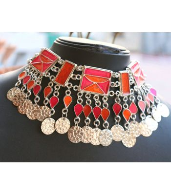 Afghani Tribal Choker Gypsy look Afghani Jewelry
