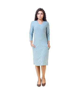 Skizo teal striped dress