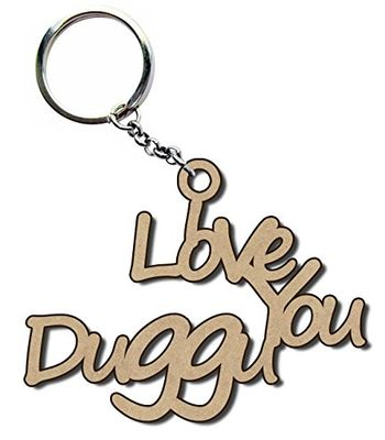 Personalized Keyring - Wooden Name Keychain